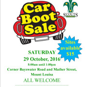 Mt Louisa Scout Group Car Boot Sale