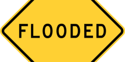 Flooded sign