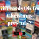Gift cards OK for Christmas presents