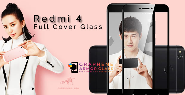 XIAOMI REDMI 4 FULL COVER 2.5D TEMPERED GLASS