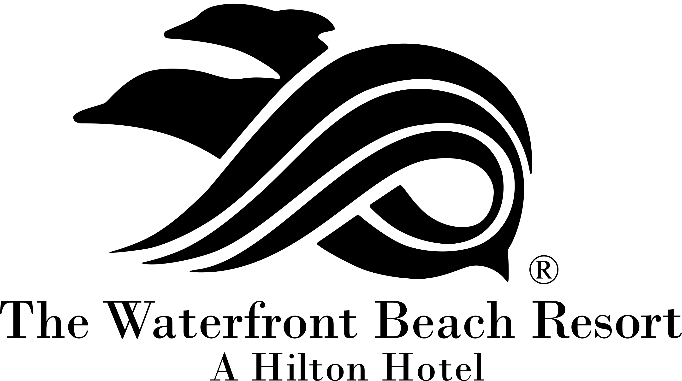 The Waterfront Beach Resort, a Hilton Hotel logo