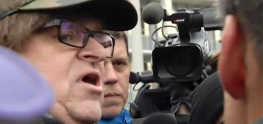 Michael Moore at a #FlintWaterCrisis rally in Flint, MI. Creidt: Michael Moore Facebook Page