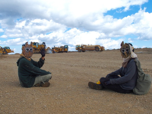 Hundreds disrupted construction work this year, vowing to halt the mine. Photo Credit: Utah Tar Sands Resistance