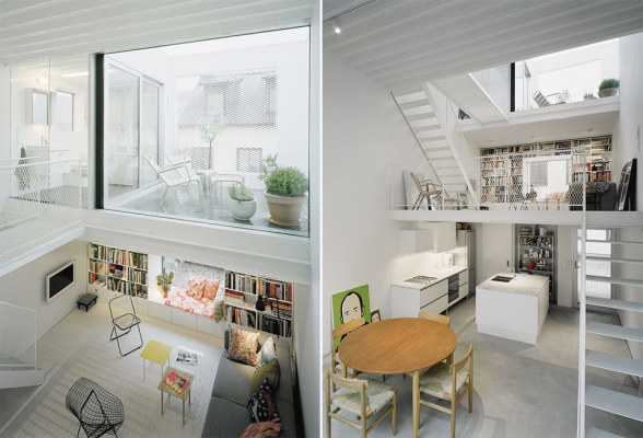 Tiny Townhouse Interior. Credit: http://smallhouseswoon.com/