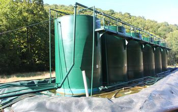 Wastewater tanks at a spill site in West Virginia. Photo Credit: Avner Vengosh/NSF