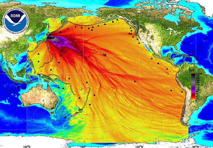 Fukushima Radiation Contamination. Photo Credit: NOAA.