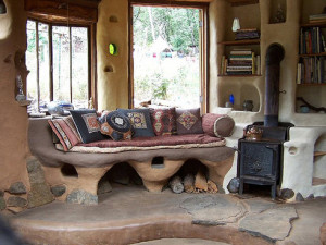 Cob House Custom Carving Interior. Photo Courtesy: Small Scale