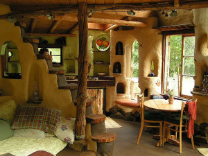 Cob House Interior. Photo Courtesy: Cob Projects