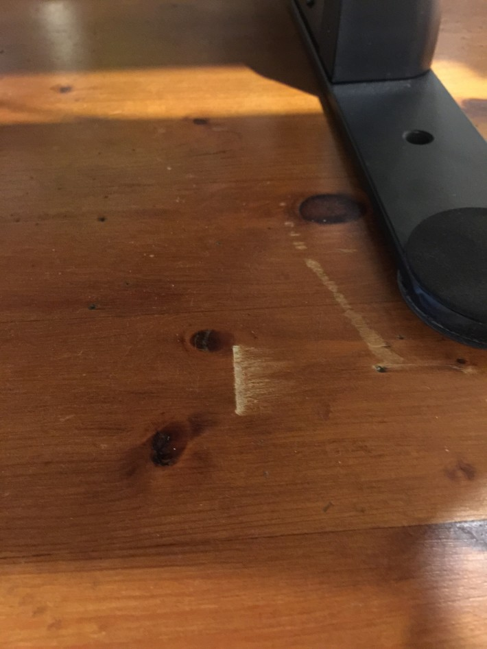 Table Damage - whoops