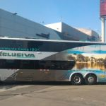 Ônibus em Lima, de empresa Excluciva, onde a cama reclina 180º