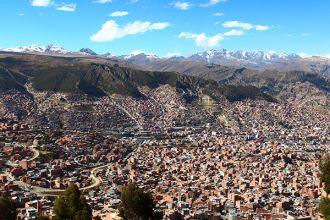 Vista da cidade de La Paz ( (Foto: Cláudia Pelegrini / A 4 Pés)