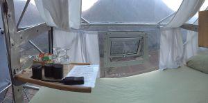 Skylodge Adventure Suites - Visão de dentro da cápsula