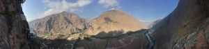 Skylodge Adventure Suites - Visão do vale de alto de uma das cápsulas