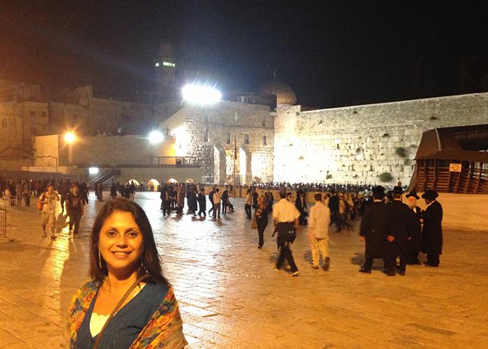 Sinalização em Jerusalém (Foto: Arquivo pessoal Elaine Gilli)