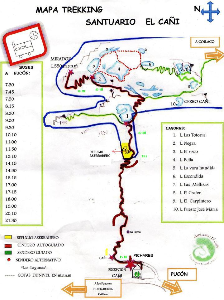 Mapa trilhas Araucárias (Foto: Divulgação El Cañi)