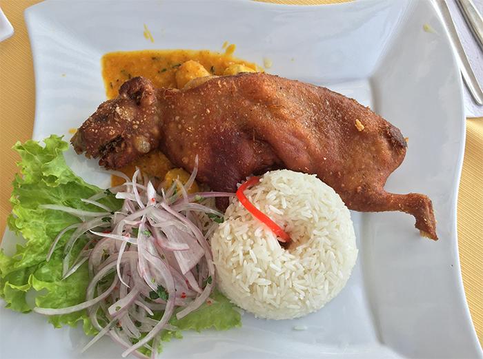 Cuy, ou porquinho da índia - Prato típico Peruano