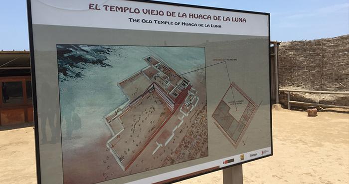 Cartaz ilustrativo da Huaca de La Luna