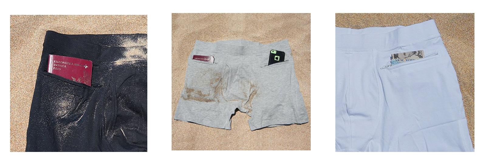 cuecas com bolso para esconder objetos