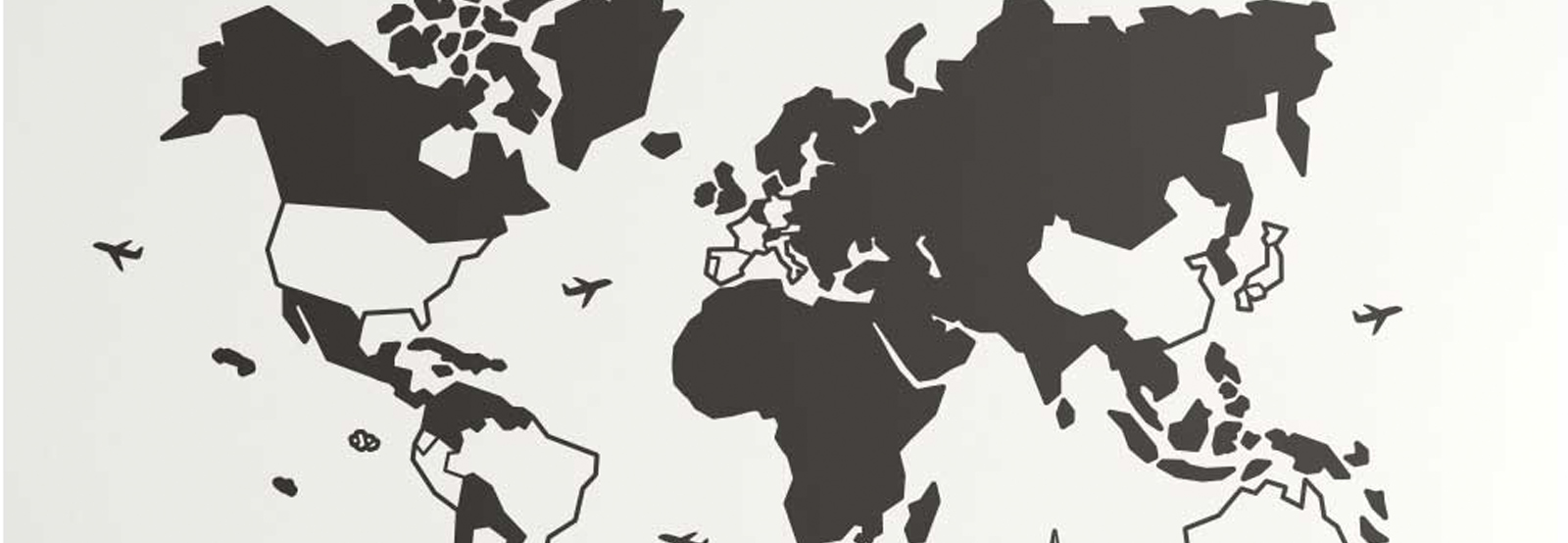 adesivo de países por onde viajou