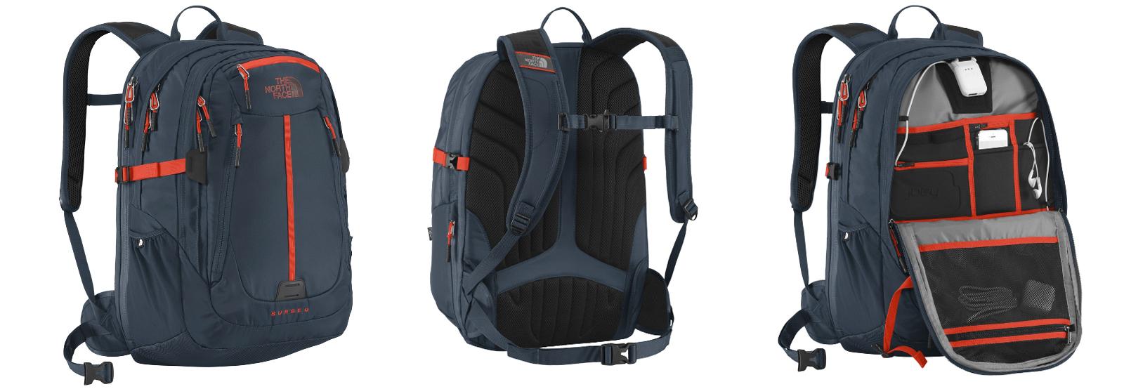 mochila pequena com carregador extra embutido