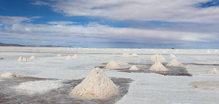 Montes de sal do Salar do Uyuni
