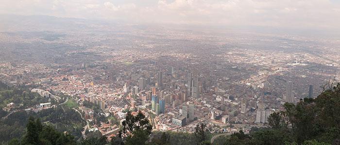 Vista do alto do Cerro Monserrate - Bogotá