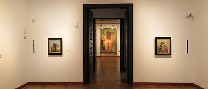 Uma das sala do Museu de Botero - Bogotá
