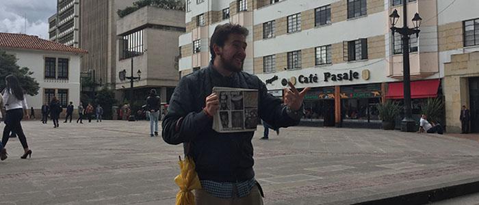 Nosso guia pelas ruas de Bogotá, o Julian.