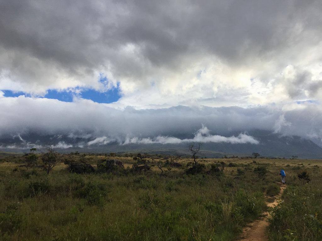 Caminhando em direção ao Monte Roraima