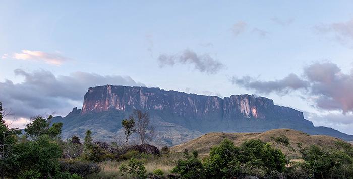 Vista do Monte Roraima, início da trilha