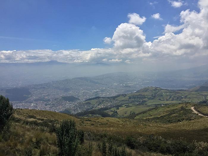 Vista da cidade de Quito