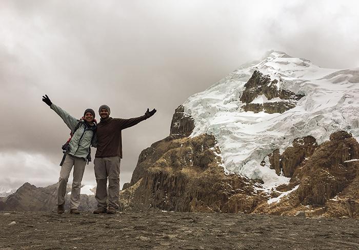 No topo do Cuyoc 5.000m - Trekking Huayhuash