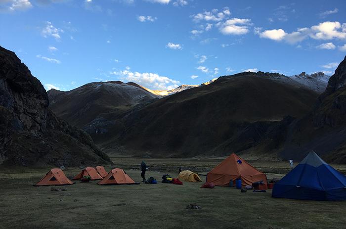 Nosso último acampamento antes de dividir o grupo