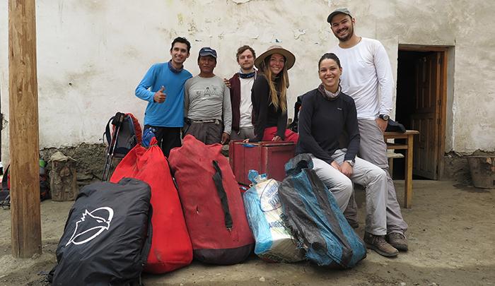 Vandeira, Aquilles (cozinheiro), Sam, Sandra, Cau e Marcos