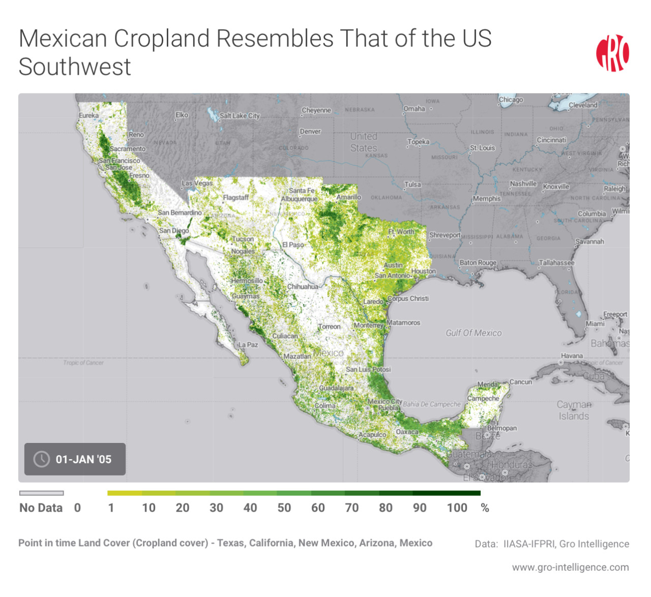 Mexican Cropland Resembles That of the US Southwest