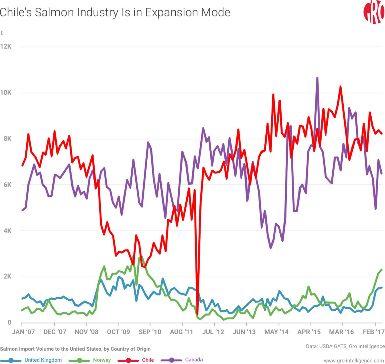 Chile, salmon, Chilean salmon, Chile salmon, Chile salmon industry
