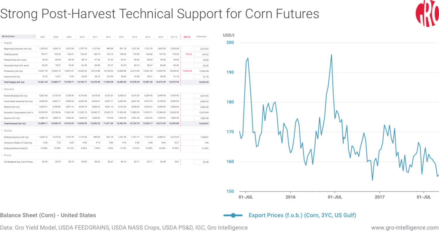 Strong Post-Harvest Technical Support for Corn Futures