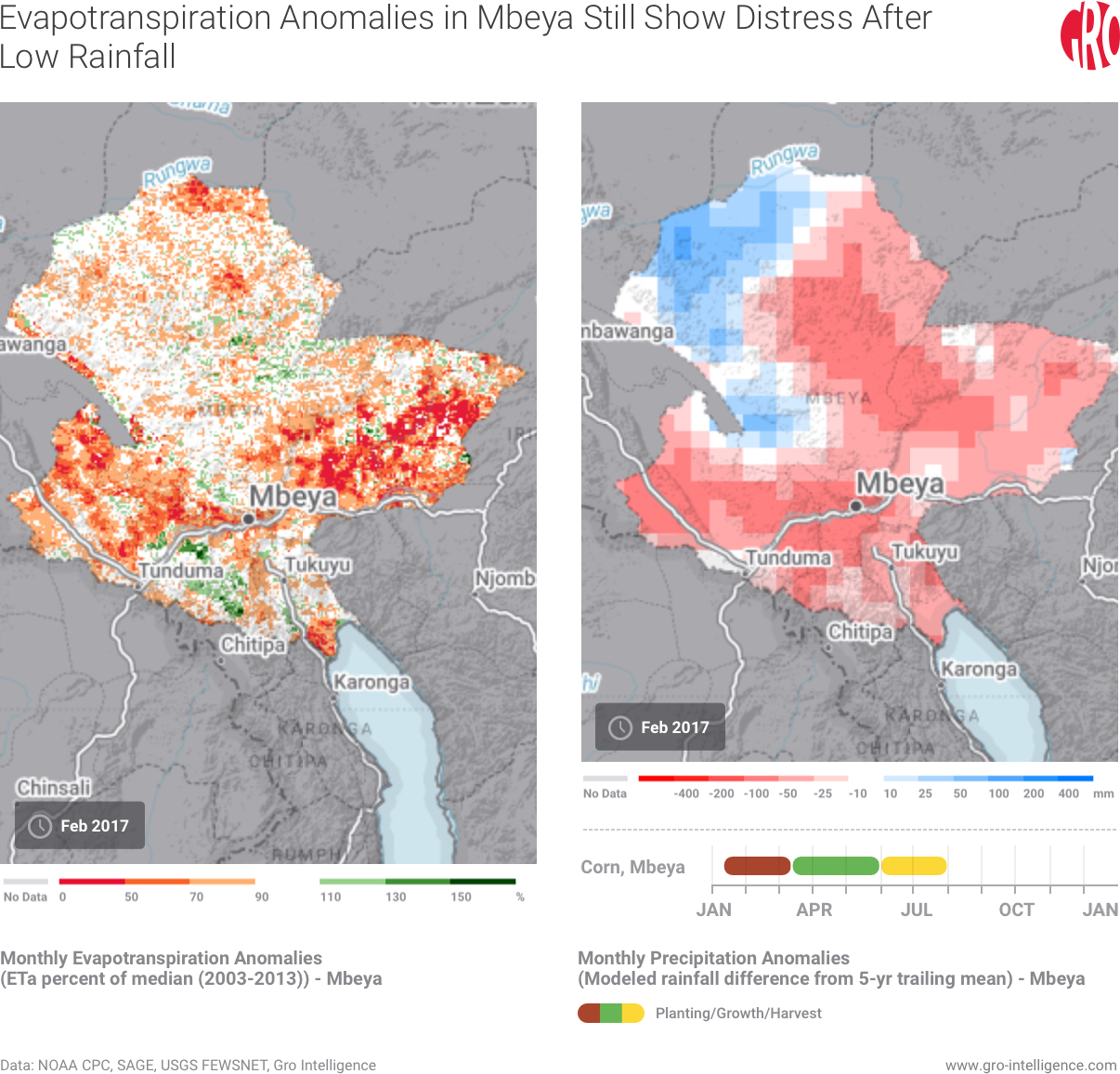 Evapotranspiration Anomalies in Mbeya Still Show Distress After Low Rainfall