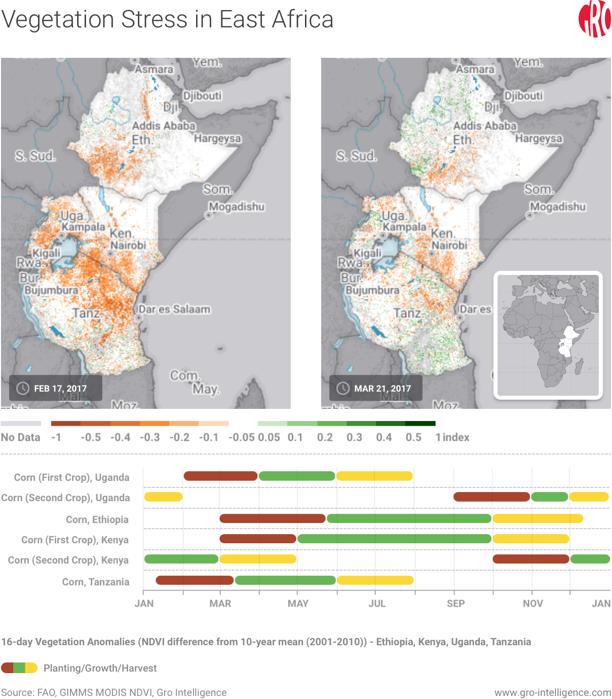 Vegetation Stress in East Africa