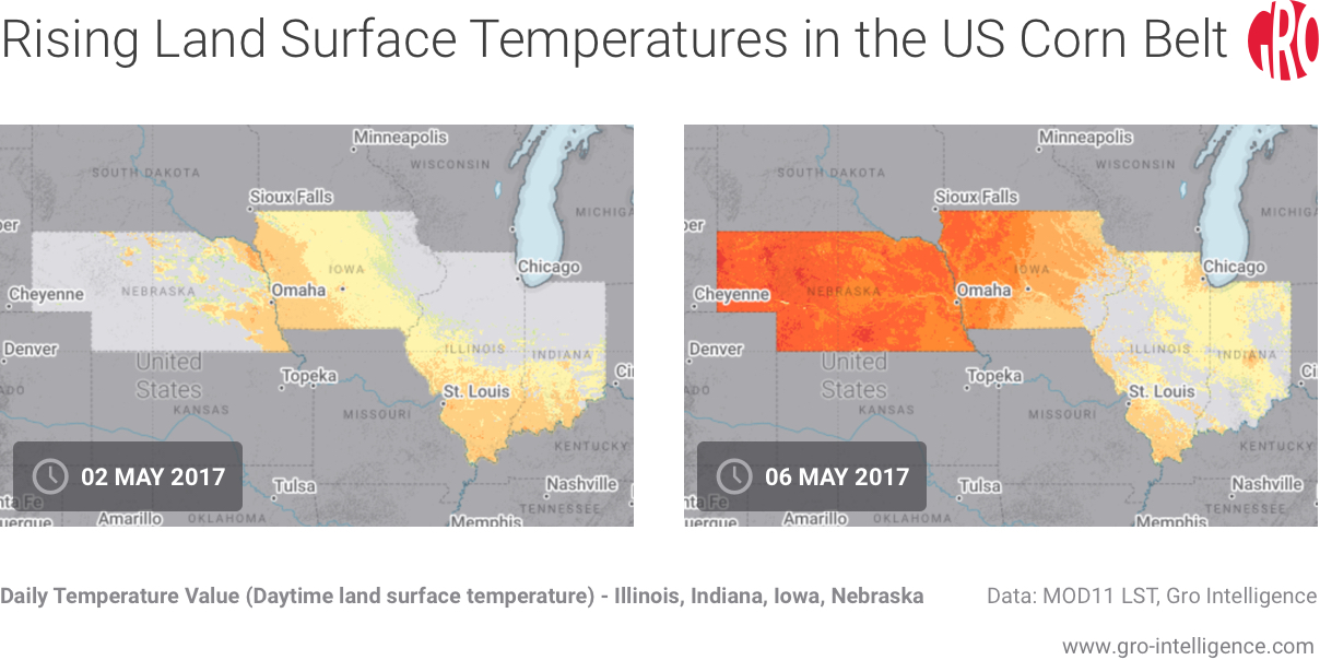Rising Land Surface Temperatures in the US Corn Belt