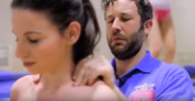 Topless Women Trampoline Coach