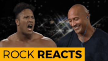 the rock reacts to his first wwe match
