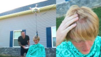 drone haircuts