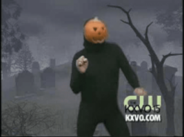 dancing pumpkin man