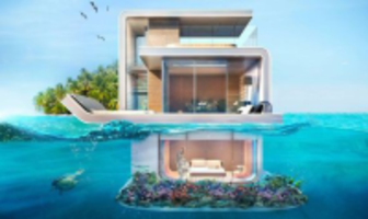 Floating under water house