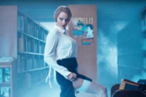 margot robbie scary librarian