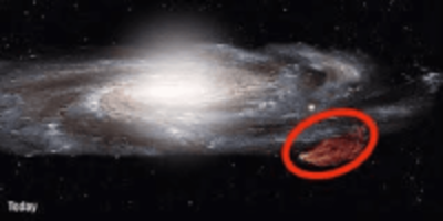 nasa mysterious cloud collide with galaxy