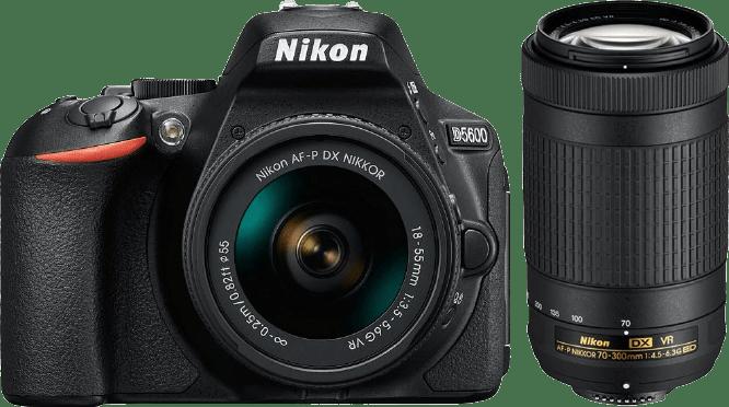 Nikon D5600 Camera Kit AF-P DX + 18-55mm VR and 70-300mm VR lenses