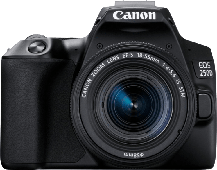 Canon EOS 250D System Camera + Lens Kit (EF-S 18-55mm)