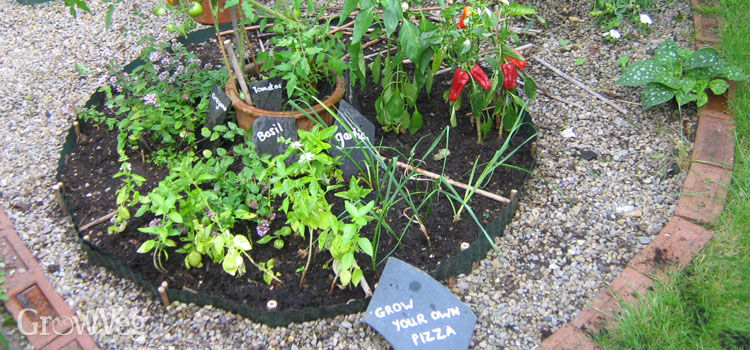 Recycled slate plant labels